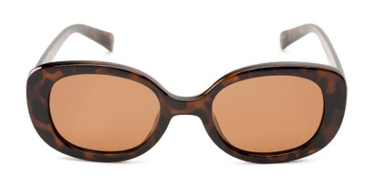 Front of Santa Clara #41626 in Tortoise Frame with Amber Lenses