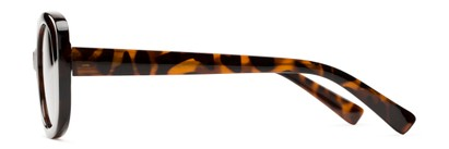 Side of Santa Clara #41626 in Tortoise Frame with Amber Lenses