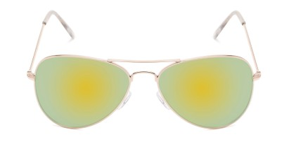 Front of Santorini #1985 in Gold Frame with Yellow/Green Mirrored Lenses