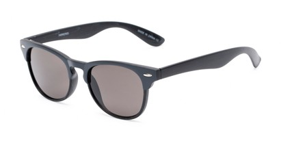 Angle of Sawyer #54092 in Grey/Black Frame with Grey Lenses, Women's and Men's Browline Sunglasses