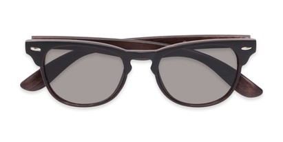 Folded of Sawyer #54092 in Black/Dark Brown Frame with Grey Lenses