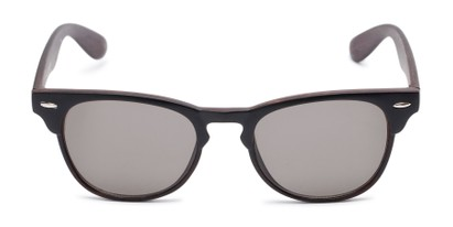 Front of Sawyer #54092 in Black/Dark Brown Frame with Grey Lenses