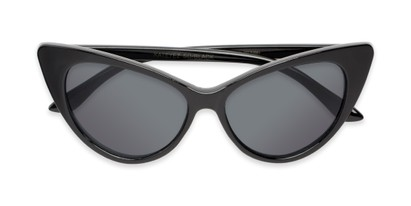 Folded of Sierra #1274 in Black Frame with Grey Lenses