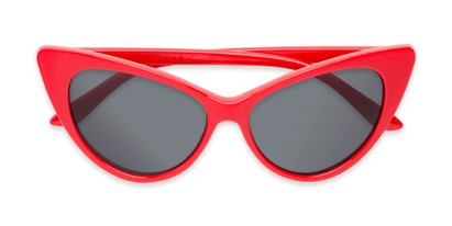 Folded of Sierra #1274 in Red Frame with Grey Lenses