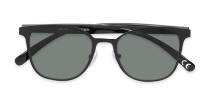 Folded of Snyder #6214 in Black Frame with Green Lenses