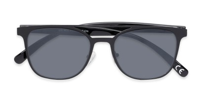 Folded of Snyder #6214 in Black Frame with Grey Lenses