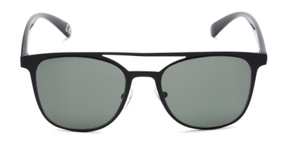 Front of Snyder #6214 in Black Frame with Green Lenses