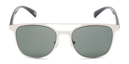 Front of Snyder #6214 in Silver/Black Frame with Green Lenses