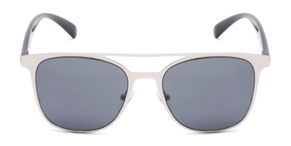 Front of Snyder #6214 in Silver/Black Frame with Grey Lenses