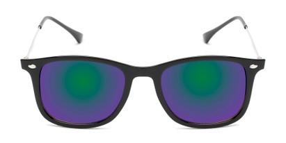 Front of Solo #3892 in Black Frame with Blue/Green Mirrored Lenses