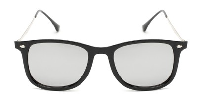 Front of Solo #3892 in Black Frame with Silver Mirrored Lenses