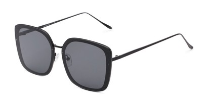 Angle of Solstice #4041 in Black Frame with Grey Lenses, Women's Square Sunglasses