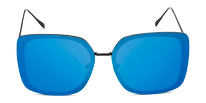 Front of Solstice #4041 in Black Frame with Blue Mirrored Lenses