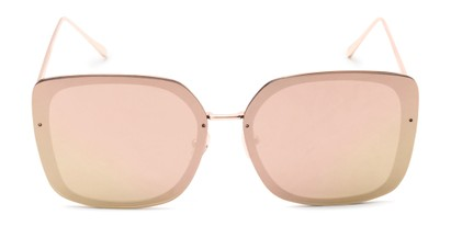 Front of Solstice #4041 in Gold Frame with Pink/Yellow Mirrored Lenses