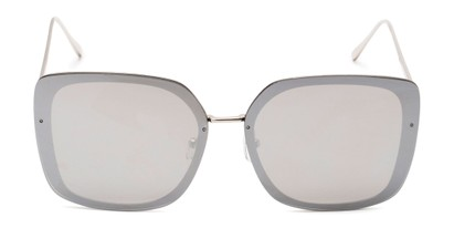Front of Solstice #4041 in Silver Frame with Silver Mirrored Lenses