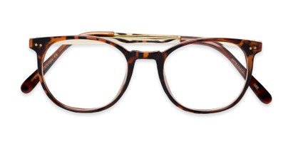 Folded of Staff #6702 in Tortoise Frame with Clear Lenses