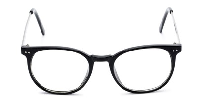 Front of Staff #6702 in Black Frame with Clear Lenses