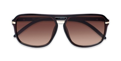 Folded of Starboard #6118 in Glossy Brown Frame with Amber Lenses