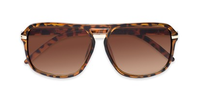 Folded of Starboard #6118 in Glossy Tortoise Frame with Amber Lenses