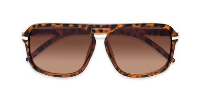 Folded of Starboard #6118 in Matte Tortoise Frame with Amber Lenses