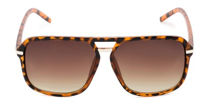 Front of Starboard #6118 in Glossy Tortoise Frame with Amber Lenses
