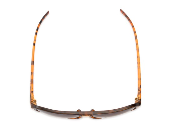 Overhead of Starboard #6118 in Matte Tortoise Frame with Amber Lenses