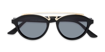 Folded of Stevie #2035 in Matte Black Frame with Smoke Lenses