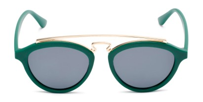 Front of Stevie #2035 in Matte Green Frame with Smoke Lenses