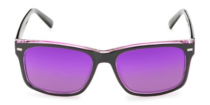 Front of Stokes #1819 in Black/Purple Frame with Purple Mirrored Lenses