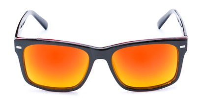 Front of Stokes #1819 in Black/Red Frame with Red/Yellow Mirrored Lenses