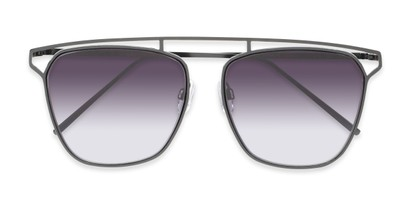 Folded of Suffolk #3151 in Matte Black Frame with Smoke Gradient Lenses