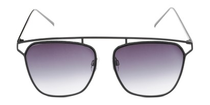 Front of Suffolk #3151 in Matte Black Frame with Smoke Gradient Lenses