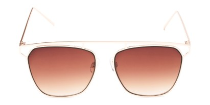 Front of Suffolk #3151 in Matte Gold Frame with Amber Gradient Lenses