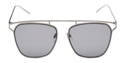 Front of Suffolk #3151 in Matte Grey Frame with Smoke Gradient Lenses