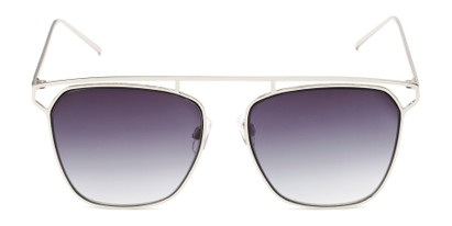 Front of Suffolk #3151 in Matte Silver Frame with Smoke Gradient Lenses
