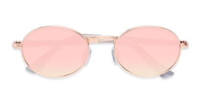 Folded of Summer #6793 in Rose Gold Frame with Pink Mirrored Lenses