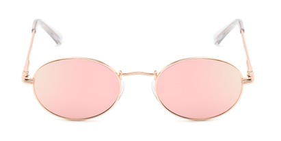 Front of Summer #6793 in Rose Gold Frame with Pink Mirrored Lenses