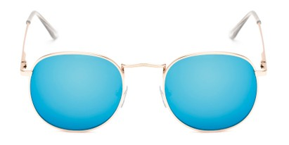Front of Tahiti #6390 in Gold Frame with Blue Mirrored Lenses