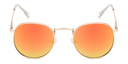 Front of Tahiti #6390 in Gold Frame with Orange Mirrored Lenses