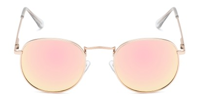 Front of Tahiti #6390 in Gold Frame with Pink Mirrored Lenses