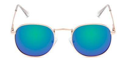 Front of Tahiti #6390 in Gold Frame with Purple/Blue Mirrored Lenses