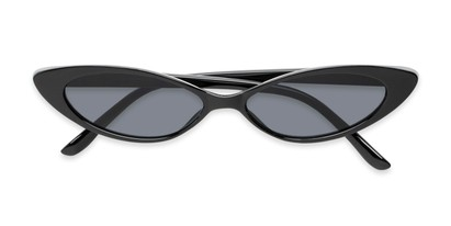 Folded of Tatum #16290 in Black Frame with Smoke Lenses