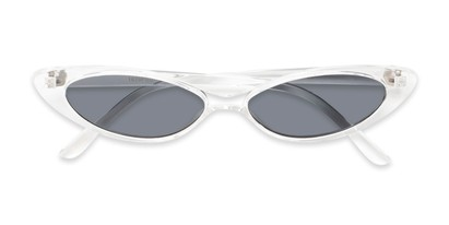 Folded of Tatum #16290 in Clear Frame with Smoke Lenses