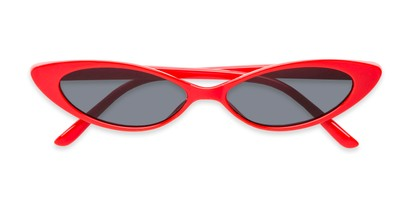 Folded of Tatum #16290 in Red Frame with Smoke Lenses