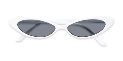 Folded of Tatum #16290 in White Frame with Smoke Lenses