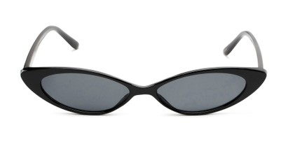 Front of Tatum #16290 in Black Frame with Smoke Lenses