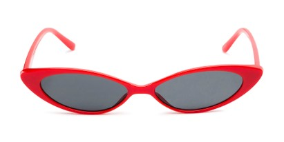 Front of Tatum #16290 in Red Frame with Smoke Lenses