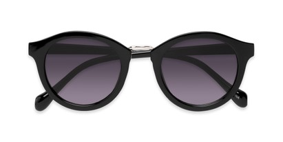 Folded of Tide #7091 in Glossy Black/Silver Frame with Smoke Lenses