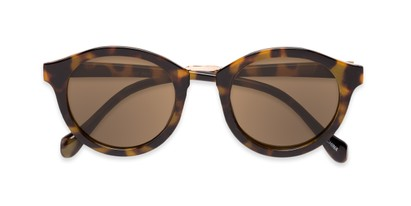 Folded of Tide #7091 in Glossy Tortoise/Gold Frame with Amber Lenses