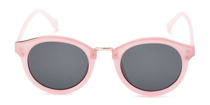 Front of Tide #7091 in Glossy Pink/Gold Frame with Grey Lenses